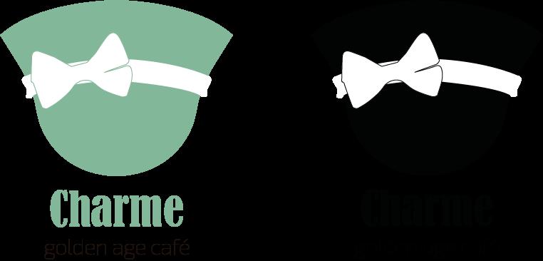 עיצוב בחינוך עיצוב גרפי CHARME מיתוג בית קפה לוגו תיק עבודות קטיה פובזנר